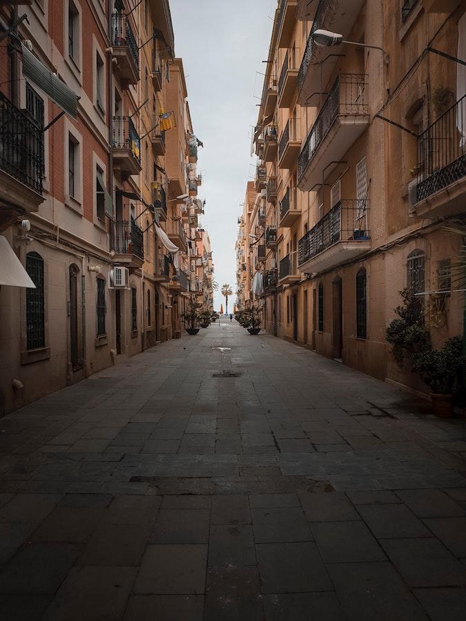 The street of la Barceloneta we were house sitting on